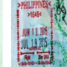{amp}lt;Штамп: Филиппины; въезд{amp}gt;
